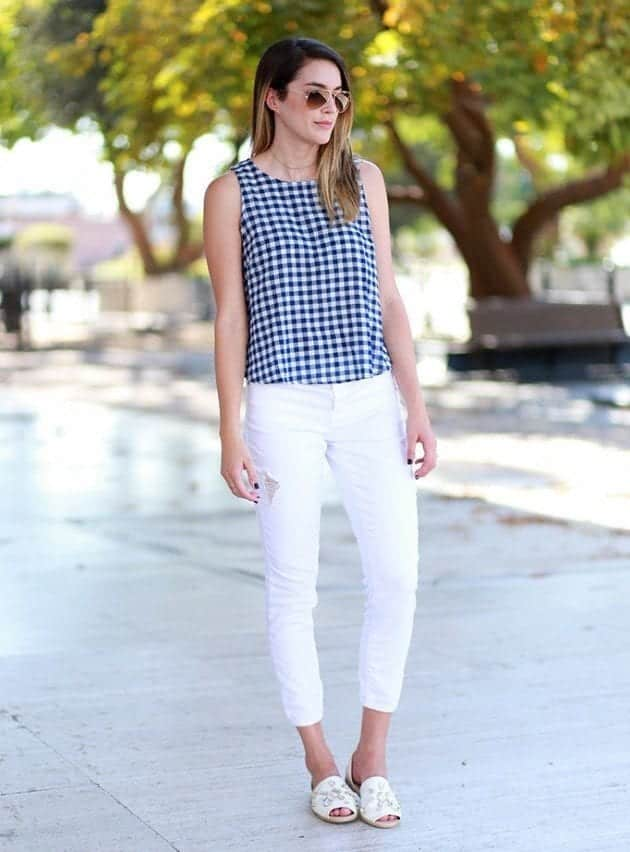 fingham-19 Gingham Outfit Ideas-18 Ways to Wear Gingham Dresses Perfectly