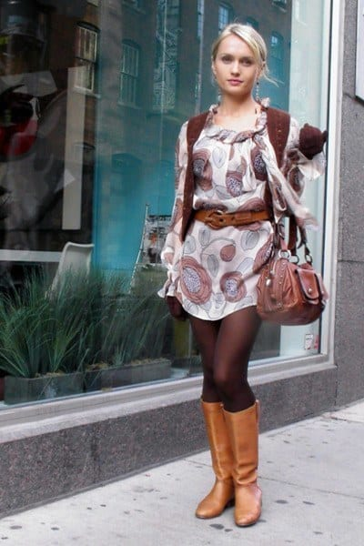 large-size-shoes-leather-riding-boots-minidress How To Wear Mini Dresses? 23 Great Ways To Wear Mini Dresses