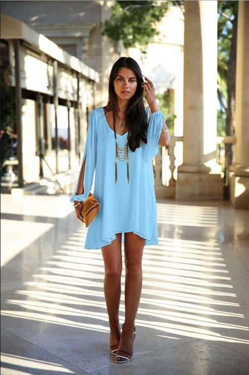 neue-art-und-weise-frauen-reizvolles-chiffon How To Wear Mini Dresses? 23 Great Ways To Wear Mini Dresses