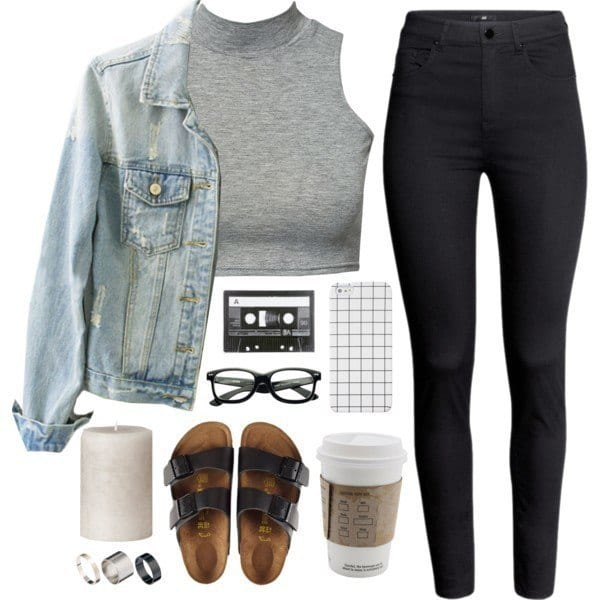 outfit-ideas-with-birkenstocks-1 Outfits with Black Jeans-23 Ways to Style Black Denim Pants