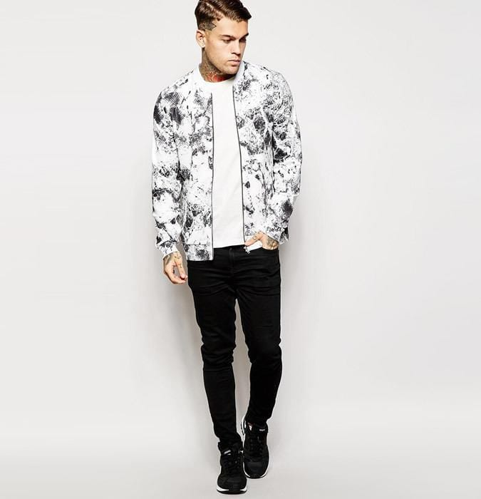 printedbomber Jacket Outfits for Guys - 24 Ways to Style Jackets Sharply