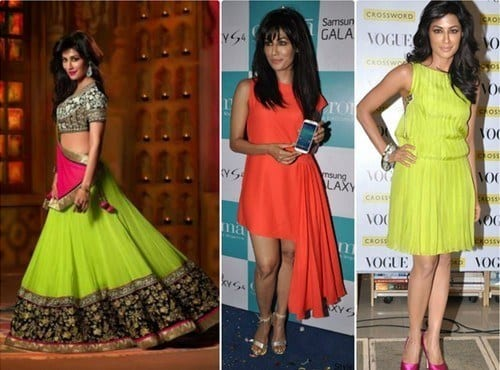 Chittrangada-Singh-Neon-dresses Neon Outfits for Women-16 Latest Neon Fashion Trends to Follow