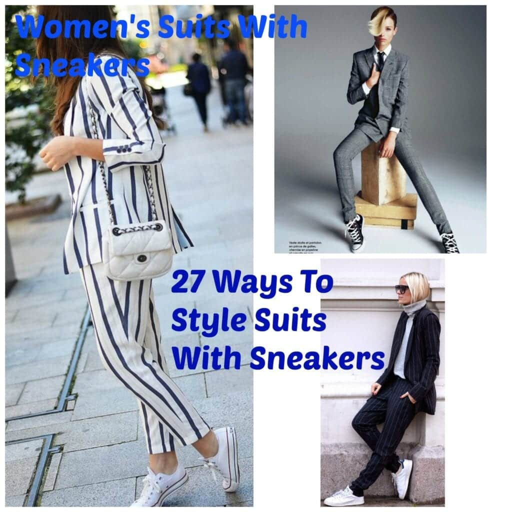 PicMonkey-Collage-5-1024x1024 Womens' Suits With Sneakers - 27 Ways To Style Suits With Sneakers