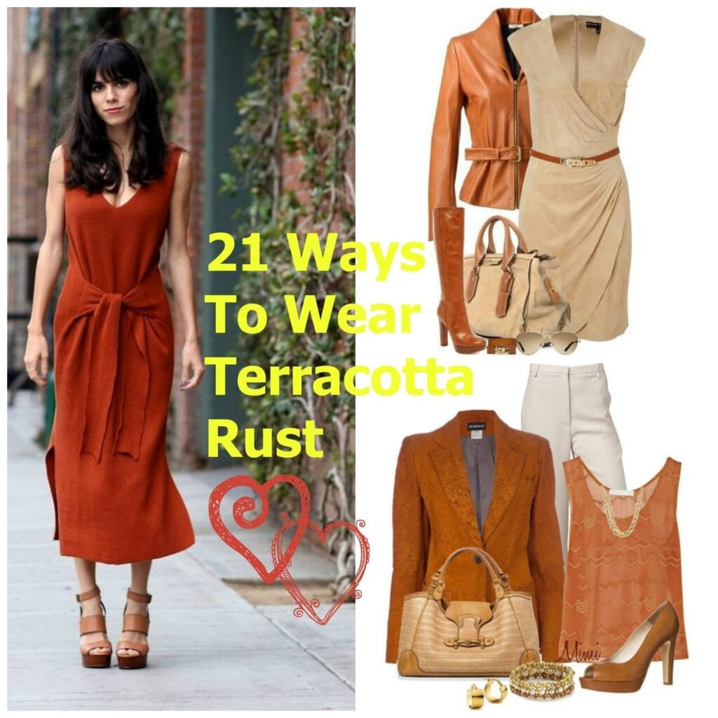 PicMonkey-Collage-6-1024x1024 Terracotta Rust Outfits-21 Ways To Wear Terracotta Rust