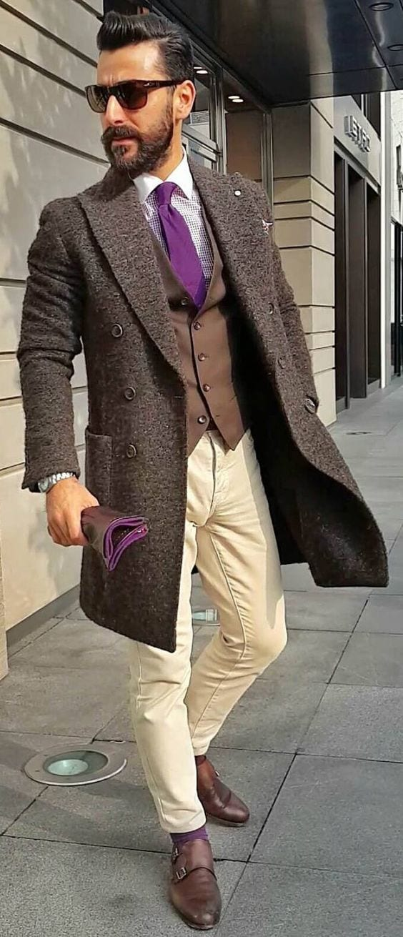 18 winter travel outfit ideas for men travel style tips - Beige kombinieren ...
