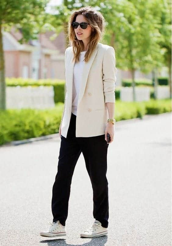 acb20466f0da8cfb785e15bf16f8c4d5 Womens' Suits With Sneakers - 27 Ways To Style Suits With Sneakers
