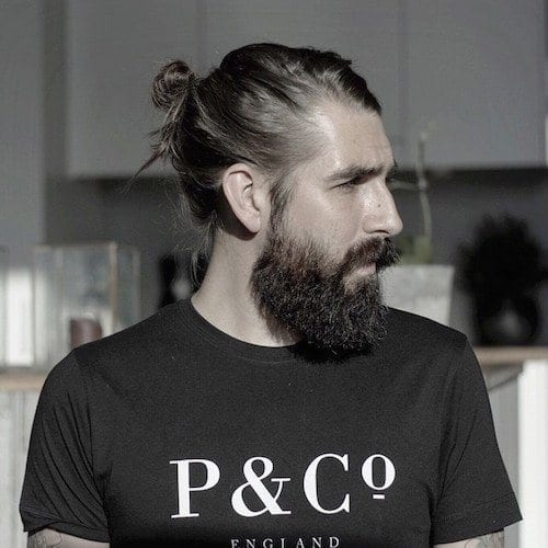 anthonybogdan_man-bun-beard Hairstyles with Beards - 20 Best Haircuts that Go with Beard