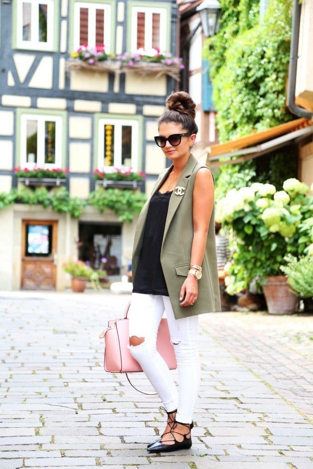 baleet-lace-up-3 29 Cute Outfits with Lace Up Ballet Flats - How to wear