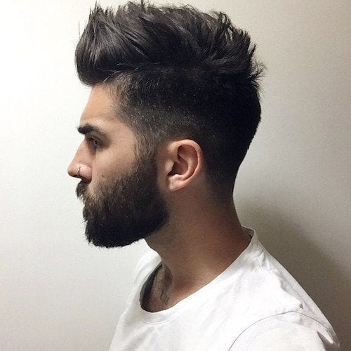 chrisjohnmillington_texturized-medium-hair-and-groomed-beard Hairstyles with Beards - 20 Best Haircuts that Go with Beard