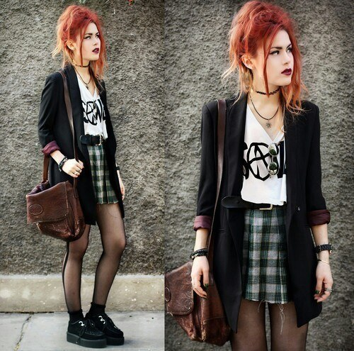 fashion-girl-grunge-style-Favim.com-2270565-500x495 Grunge Style Clothes-20 Outfit Ideas for Perfect Grunge Look