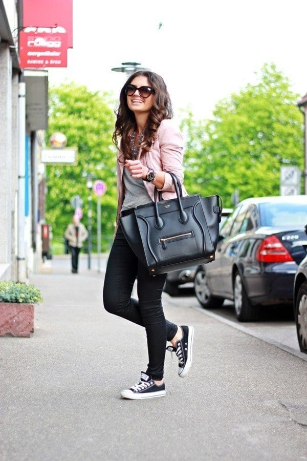 leather-spring-12 Spring Outfits with Leather Jackets-24 Latest Trends This Year