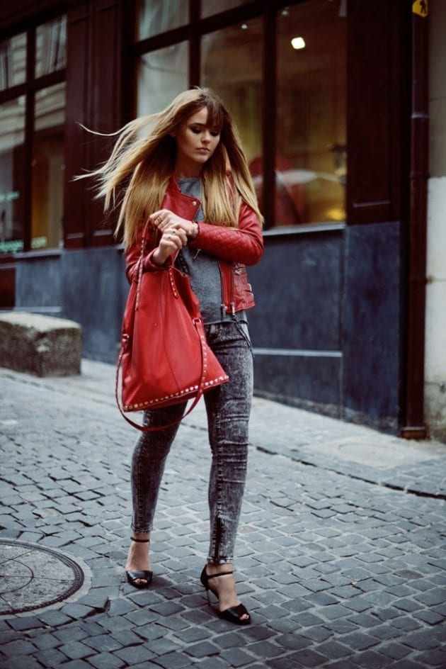 leather-spring-5 Spring Outfits with Leather Jackets-24 Latest Trends This Year