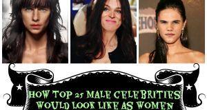 male celebrities as women