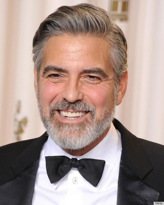 o-GEORGE-CLOONEY-570 Hairstyles with Beards - 20 Best Haircuts that Go with Beard