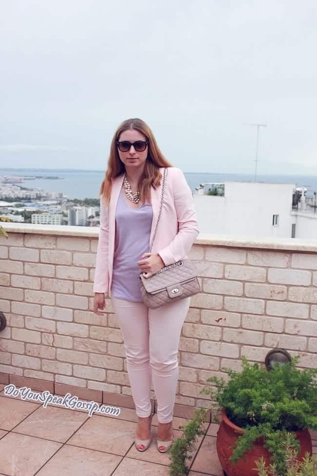 pink-blazer-2 Outfits with Pale Pink Blazers-19 Ways to Wear pink Blazers