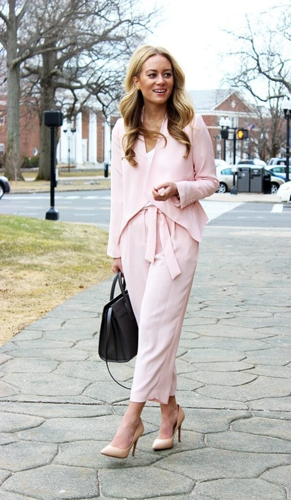 pink-blazer-9-597x1024 Outfits with Pale Pink Blazers-19 Ways to Wear pink Blazers