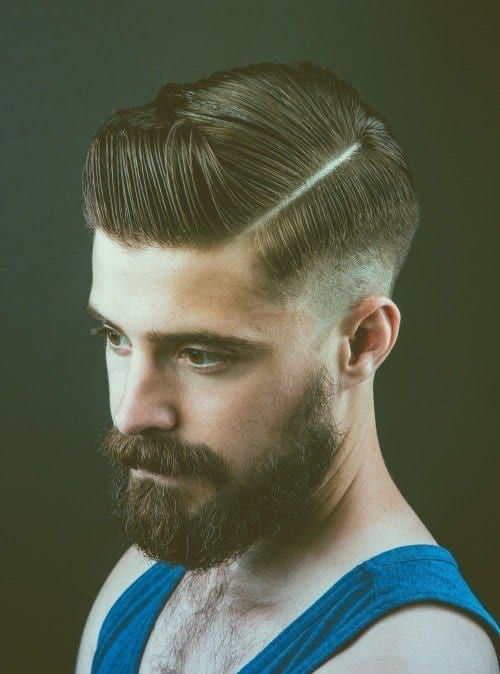 side-line-hair-for-men-500x674 Hairstyles with Beards - 20 Best Haircuts that Go with Beard