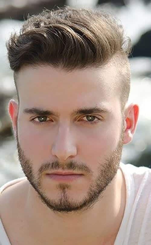 side-shaved-mens-hairstyles-with-beard-500x810 Hairstyles with Beards - 20 Best Haircuts that Go with Beard