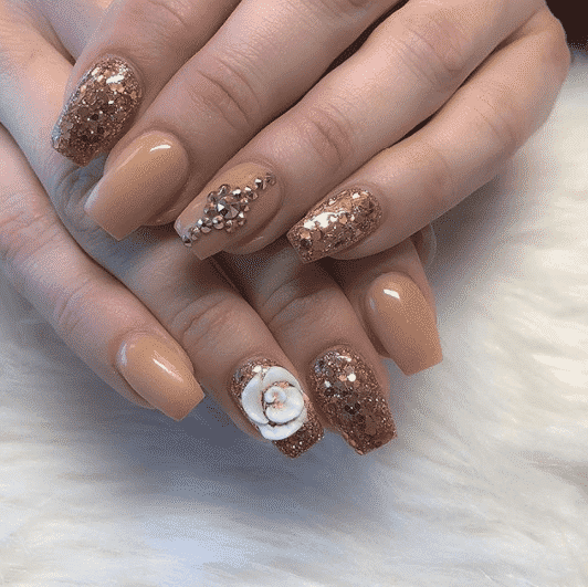 winter-glitter-nail-art Winter Nail Art Ideas - 80 Best Nail Designs This Winter