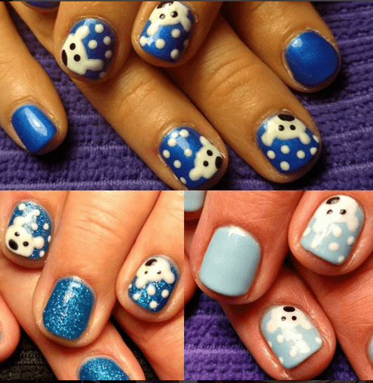 winter-polar-bear-nail-art Winter Nail Art Ideas - 80 Best Nail Designs This Winter