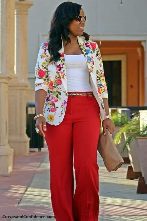 Stylish Outfits With Red Pants (19)