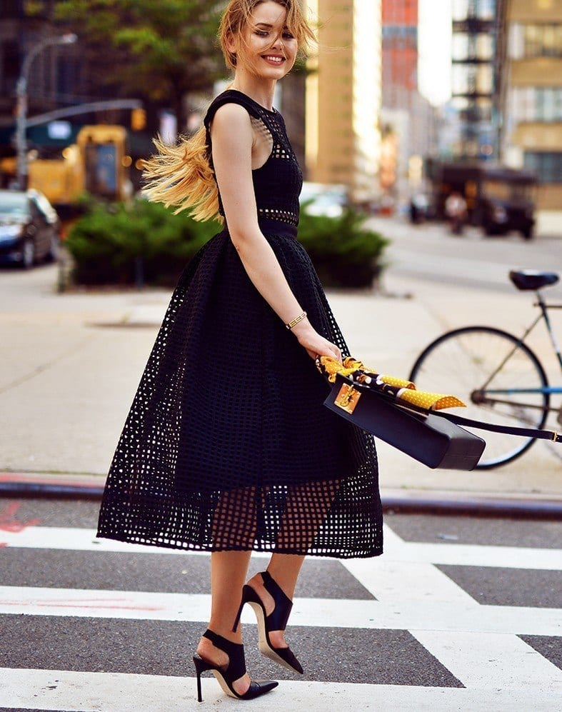 5.-chic-mules-with-cut-out-dress-e1456486669514 Outfits With Mules- 25 Ideas How To Wear Mules Shoes