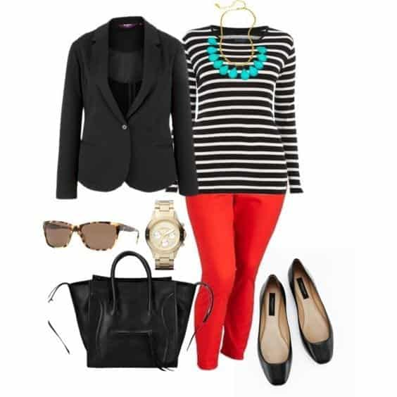 Stylish Outfits With Red Pants (9)