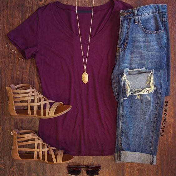 Stylish Outfits Using Simple Clothing (14)