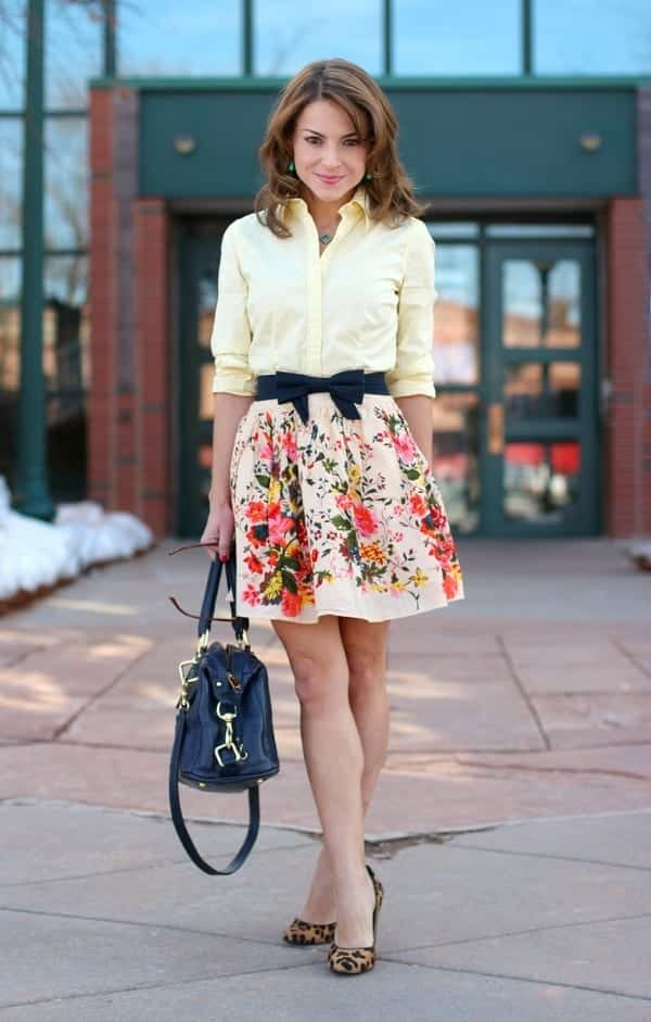 Floral-skirt 20 Ideas How to Style Floral Skirts This Spring/Summer
