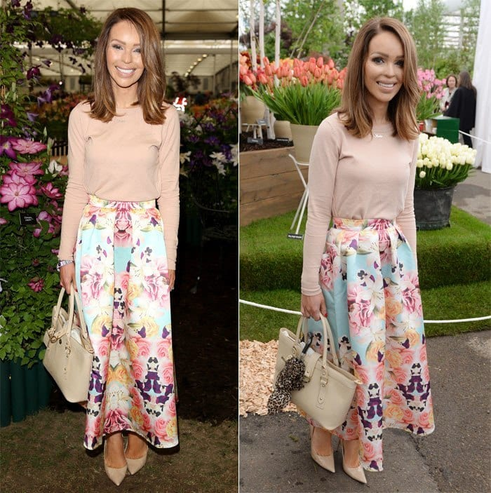 Katie-Piper1 20 Ideas How to Style Floral Skirts This Spring/Summer