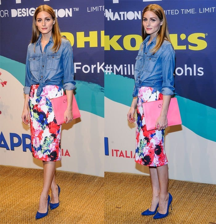 Olivia-Palermo1 20 Ideas How to Style Floral Skirts This Spring/Summer