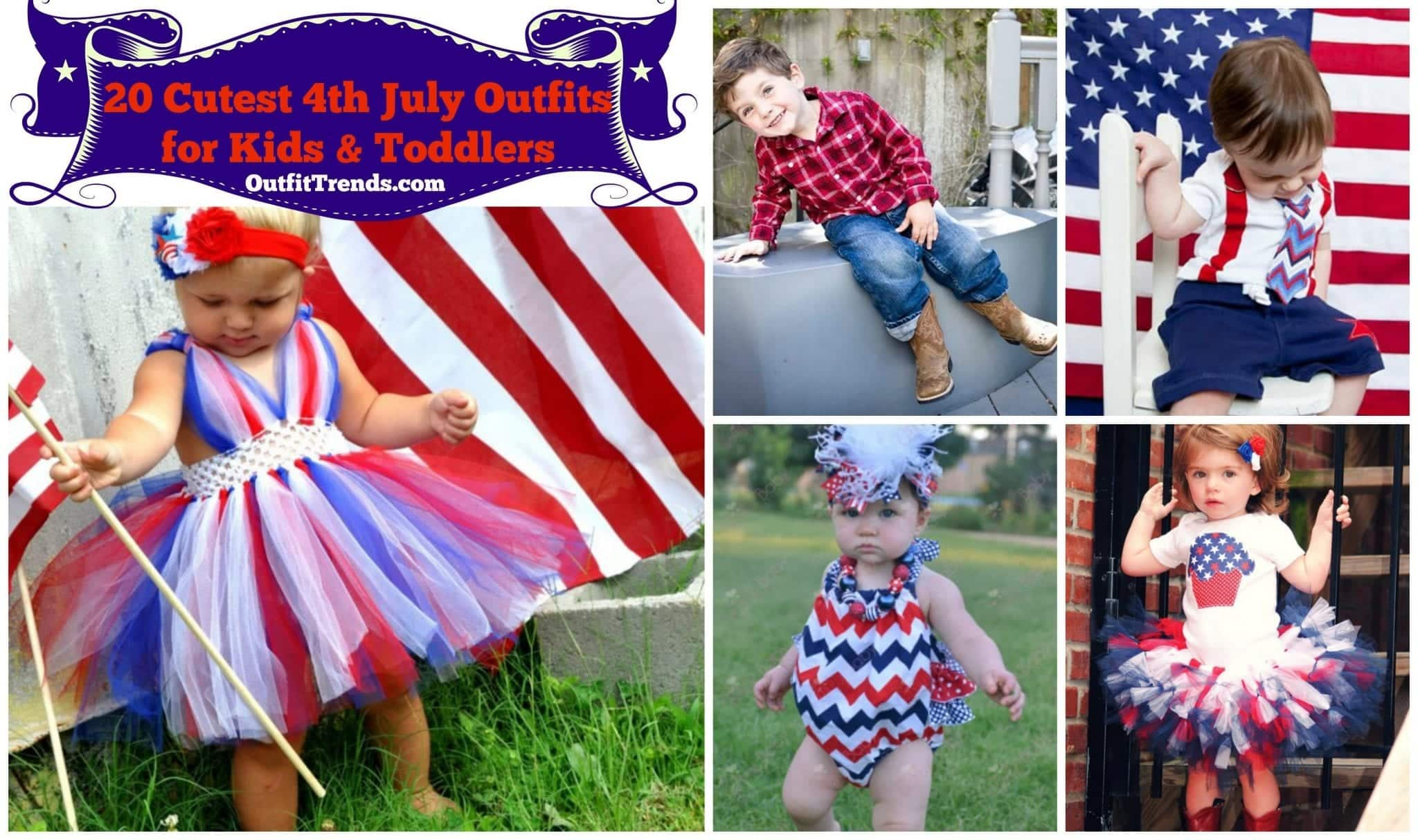 PicMonkey-Collage-10 4th of July Outfits for Kids-20 Cute Ways to Dress Up Kids on 4th July