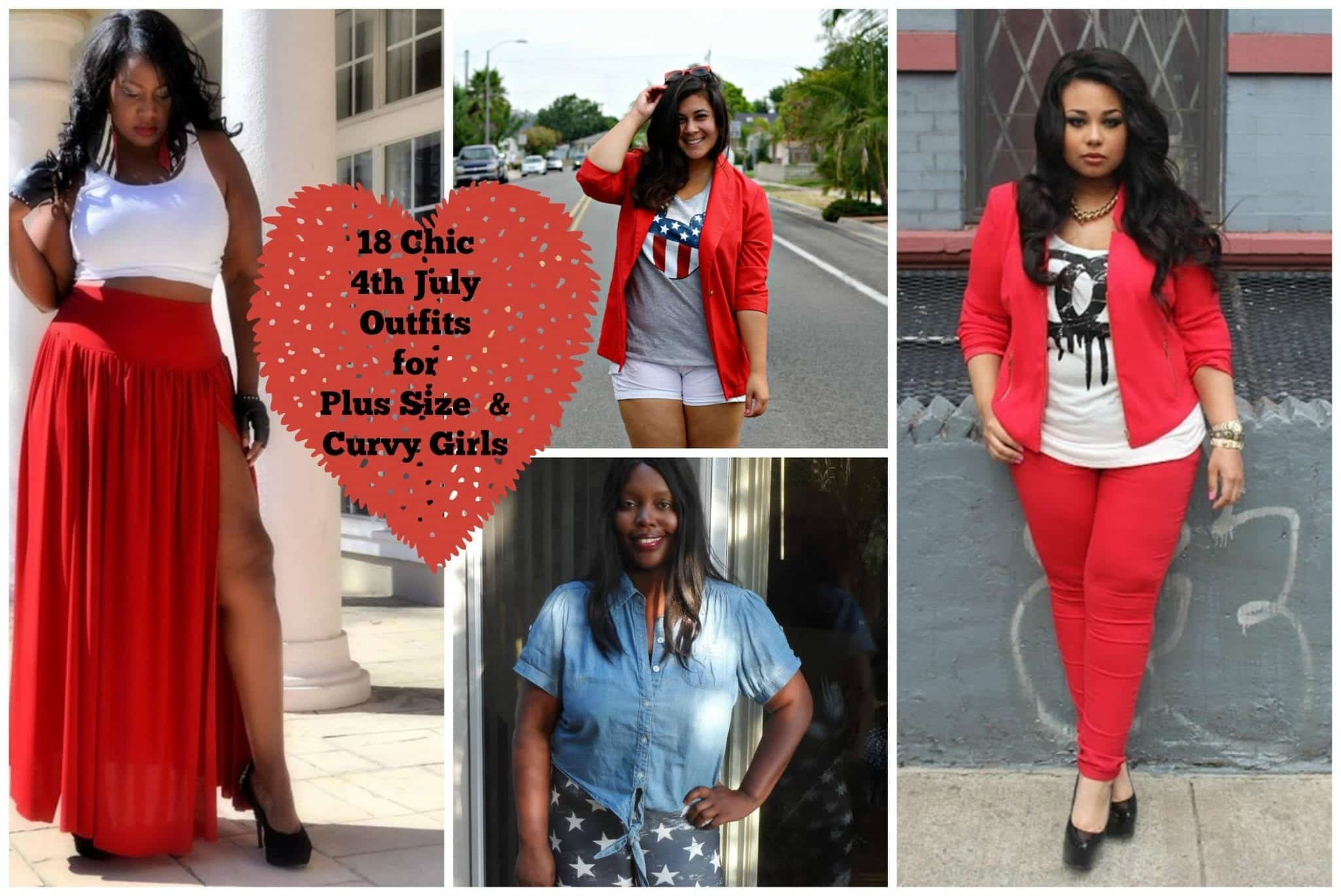 PicMonkey-Collage-11 18 Chic 4th of July Outfits For Plus Size Women 2018