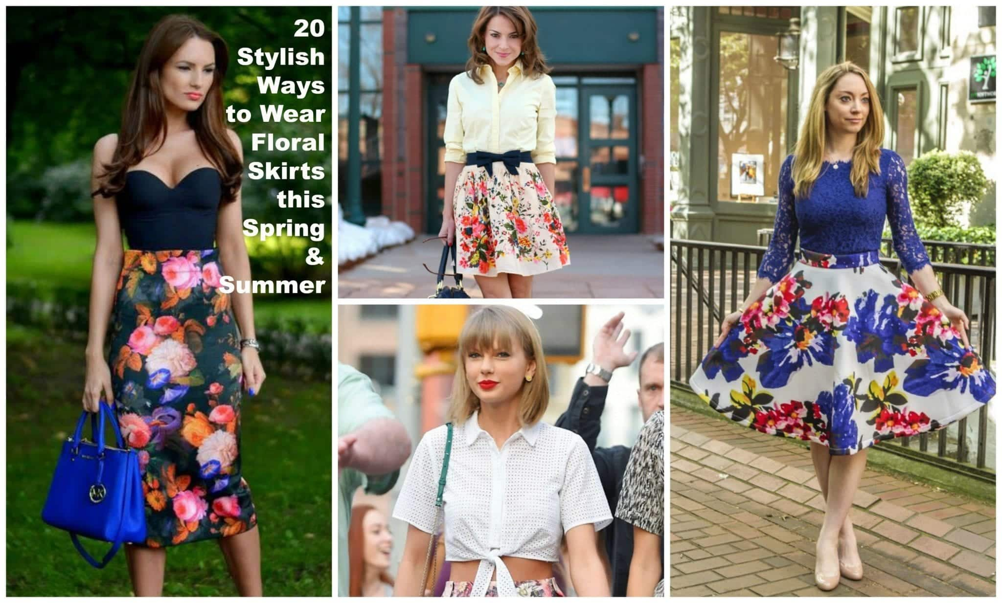PicMonkey-Collage-15 20 Ideas How to Style Floral Skirts This Spring/Summer