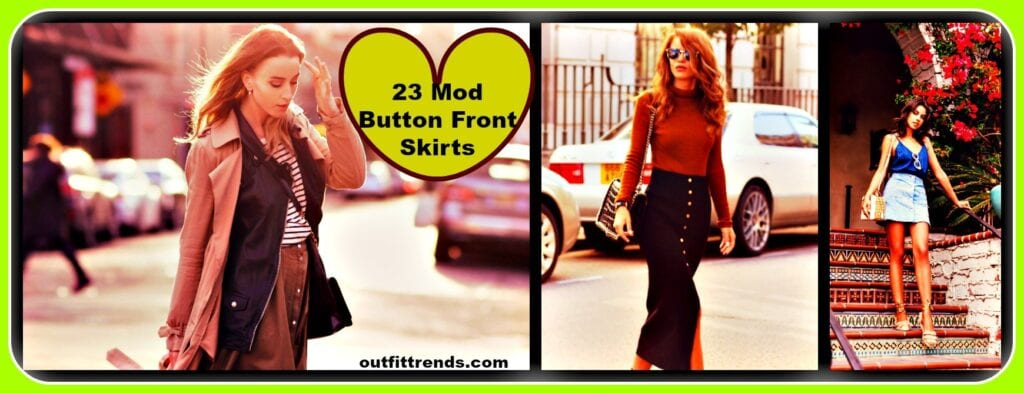 PicMonkey-Collage-16-1024x393 How to Wear Button Front Skirts? 23 Outfits Ideas to Follow