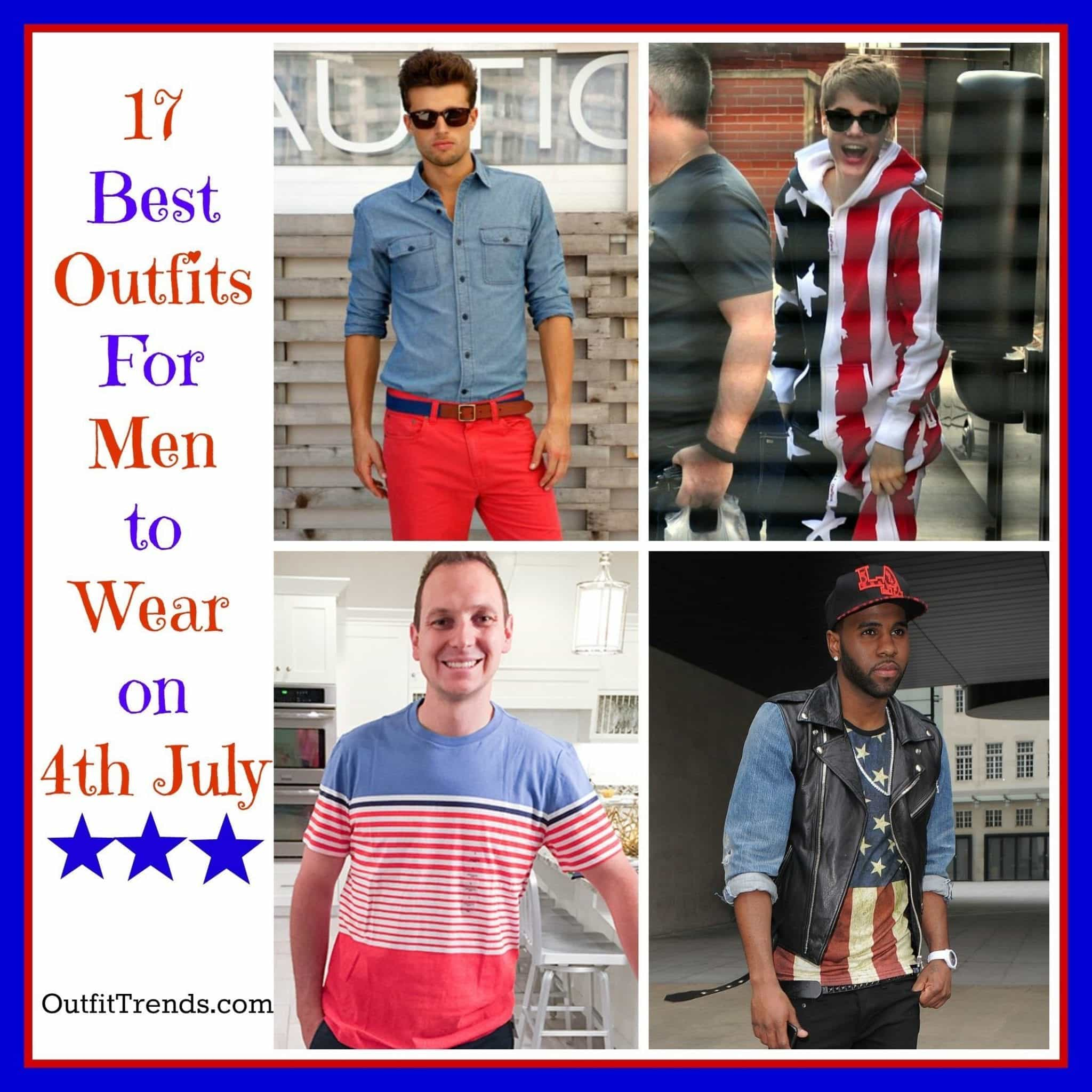 PicMonkey-Collage-9 4th of July Outfits for Men-17 Ideas What to Wear on 4th July 2018