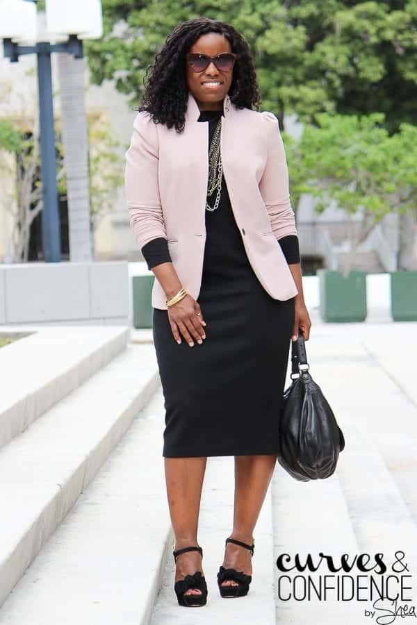 Stylish ways for curvy and plus size women to wear Blazer (3)