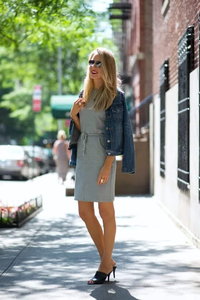black-mule-and-dress Outfits With Mules- 25 Ideas How To Wear Mules Shoes