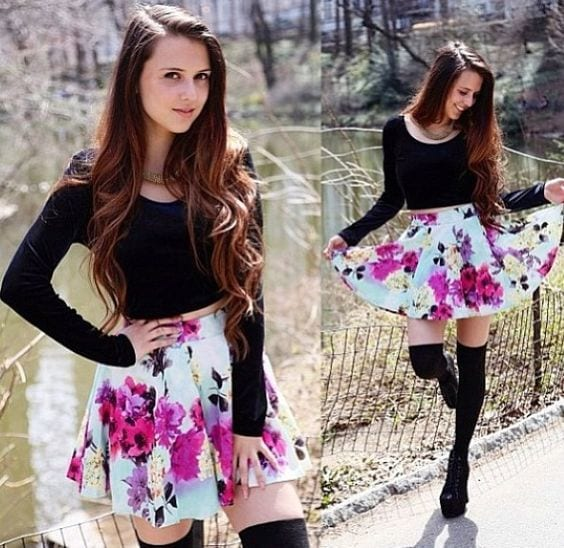 ebbbc6317cfb2bc428c16161160e7fc0 20 Ideas How to Style Floral Skirts This Spring/Summer