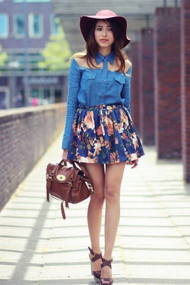 floral-skirt-2-620x931 20 Ideas How to Style Floral Skirts This Spring/Summer