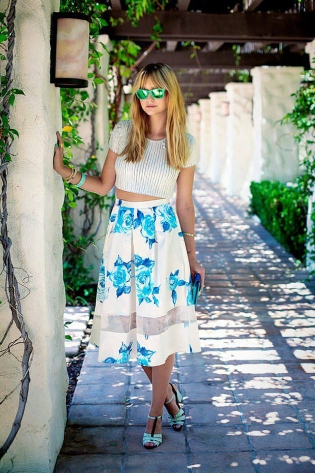 floral-skirt-7-620x930 20 Ideas How to Style Floral Skirts This Spring/Summer