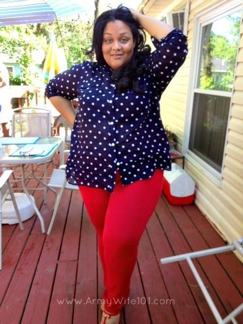 gwynniebeeredwhiteblue1 18 Chic 4th of July Outfits For Plus Size Women 2018