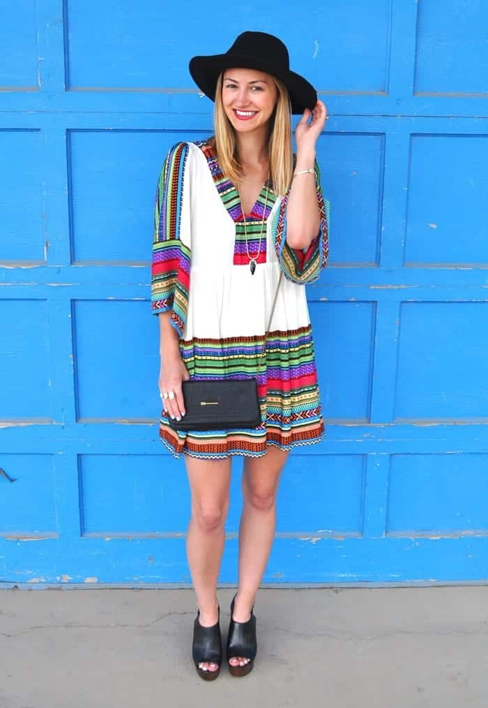 livvyland-blog-olivia-watson-festival-style-trendy-jess-lea-boutique-cozumel-dress-boho-outfit-idea-austin-texas-fashion-blogger-2 Outfits With Mules- 25 Ideas How To Wear Mules Shoes
