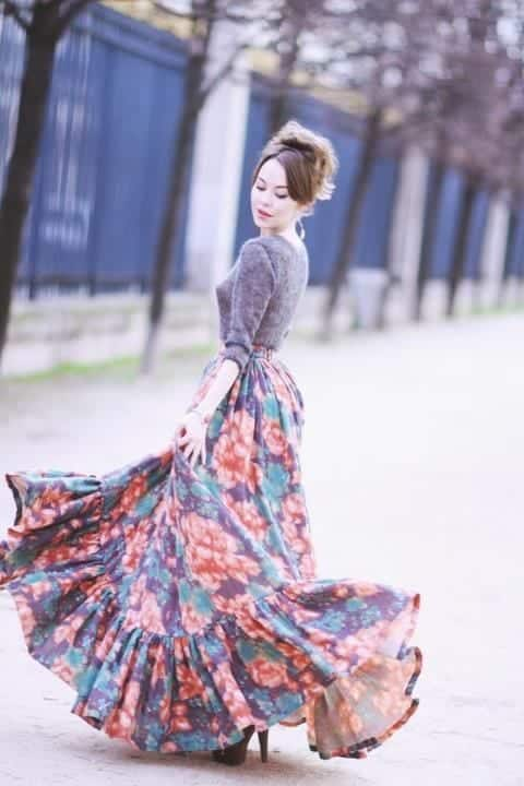 peasant-skirt-outfit-ideas-8 Peasant Skirts Outfits-17 Ways to Wear Peasant Skirts Rightly