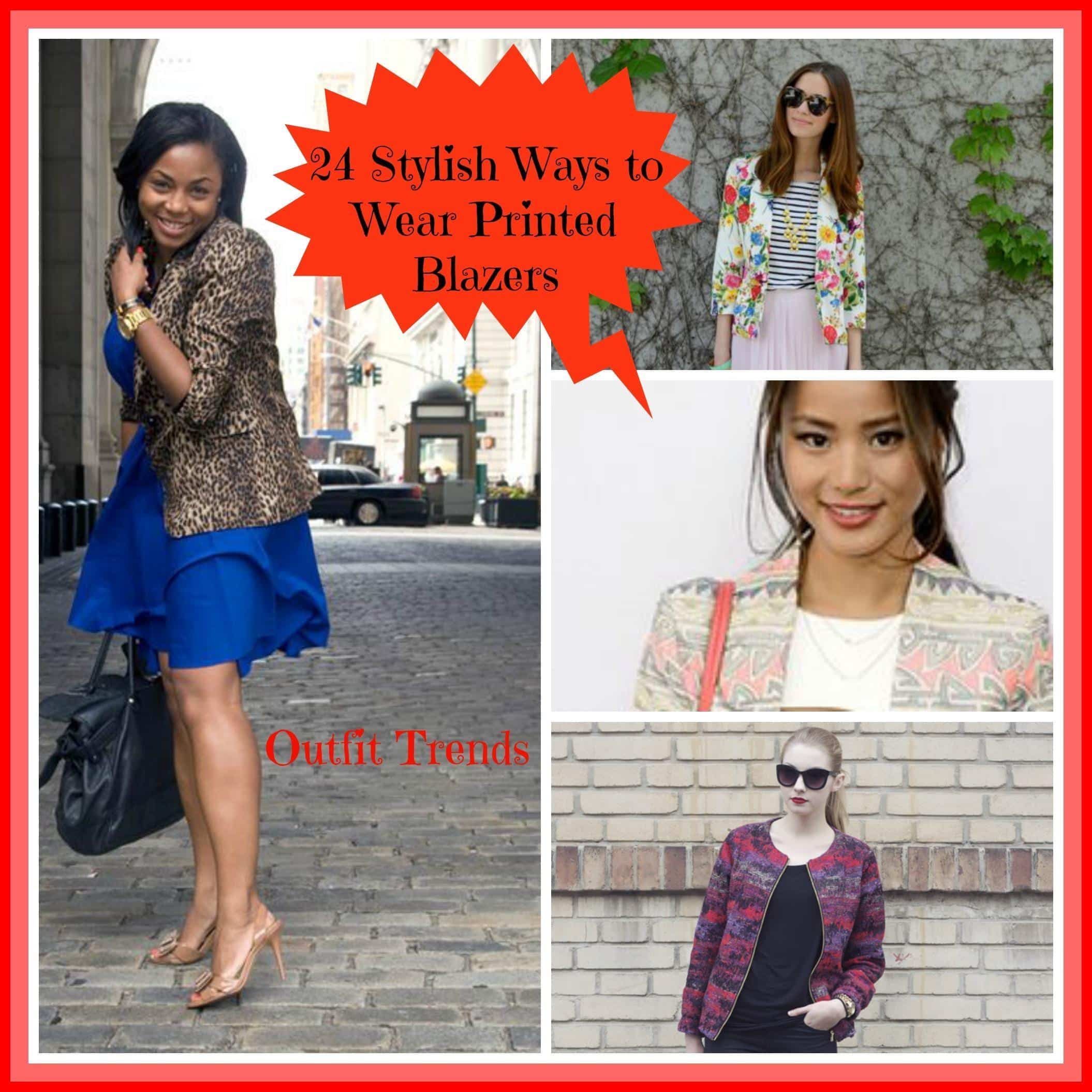 printed-blazers What to Wear with Printed Blazer? 24 Outfit Ideas This Year