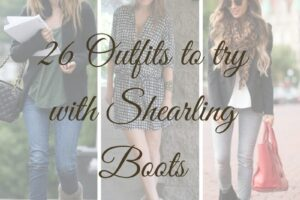 How to wear Shearling Boots - Ideas to wear Dresses with boots (1)