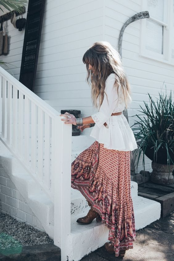 11-4 Hippie Skirts Outfits- 16 Ideas How to Wear Hippie Skirts
