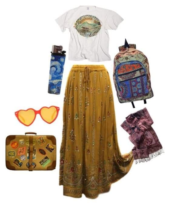 12-4 Hippie Skirts Outfits- 16 Ideas How to Wear Hippie Skirts