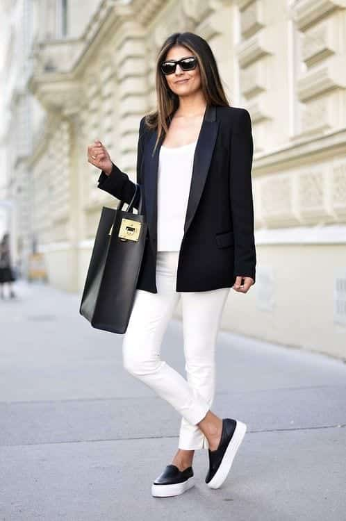Cute Outfit Ideas To Wear With Slip-On Sneakers (9)