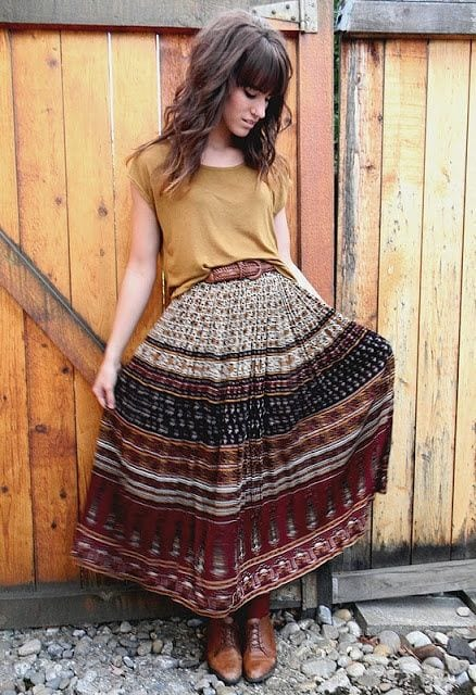 Gypsy Skirts Outfits 19 Ideas How To Wear Gypsy Skirts